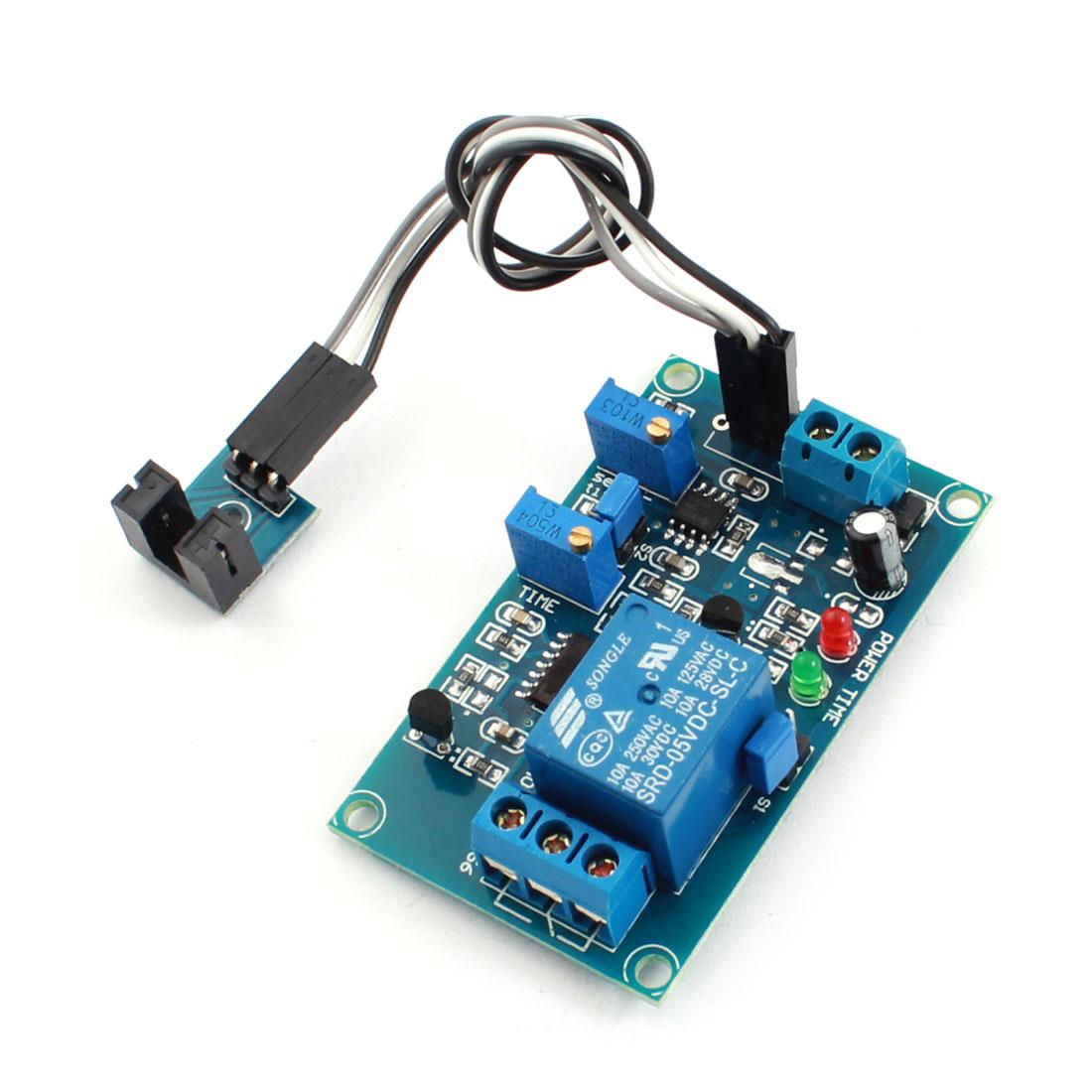 DC 5V 0-20S 1 Channel Light Detetion Optocoupler Trigger Sensor Delay Relay Circuit Module Green