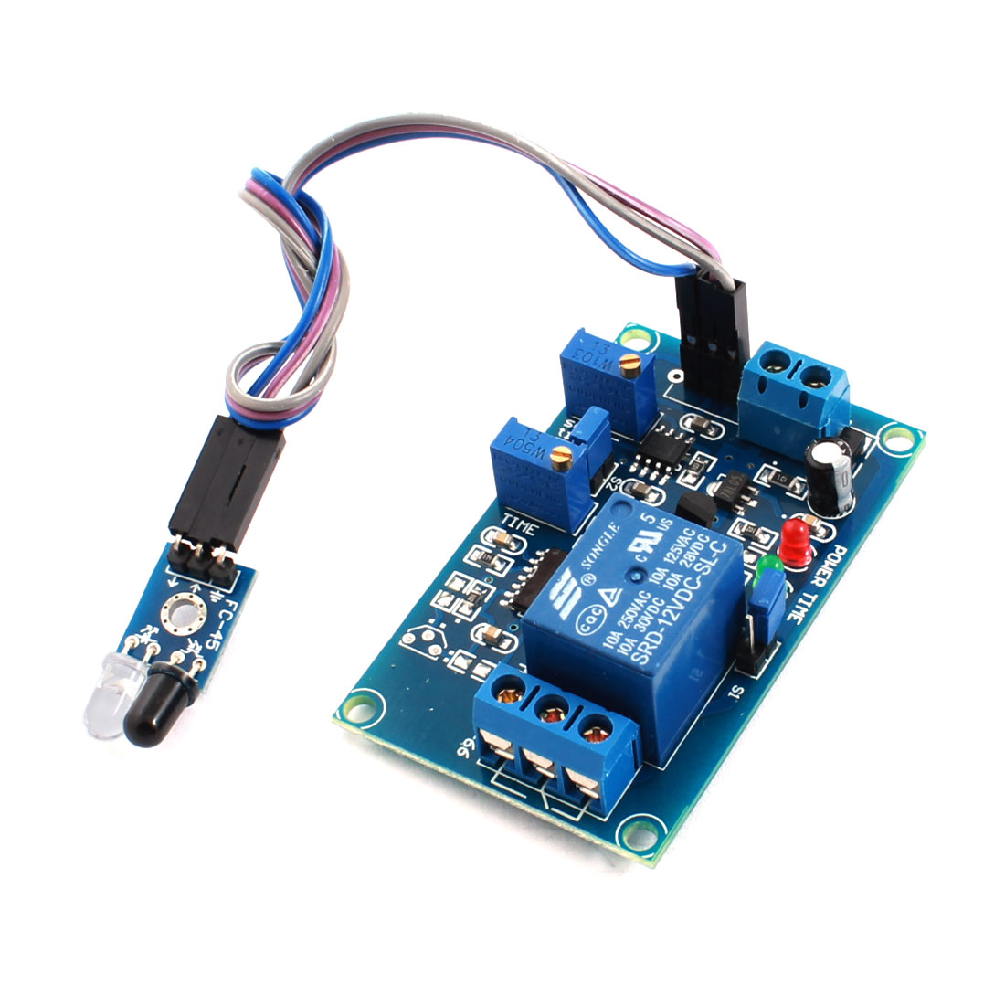 DC12V 20S 1 Channel Infrared Light Detection Reflection Trigger Sensor Time Delay Relay PCB Circuit Module