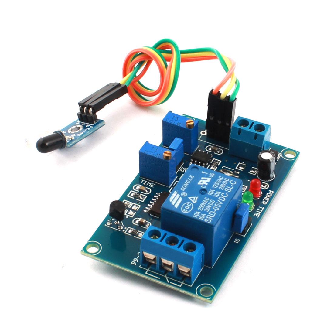 DC5V 1 Channel Non-reflection Trigger Infrared Reciever Time Delay Relay PCB Board Module