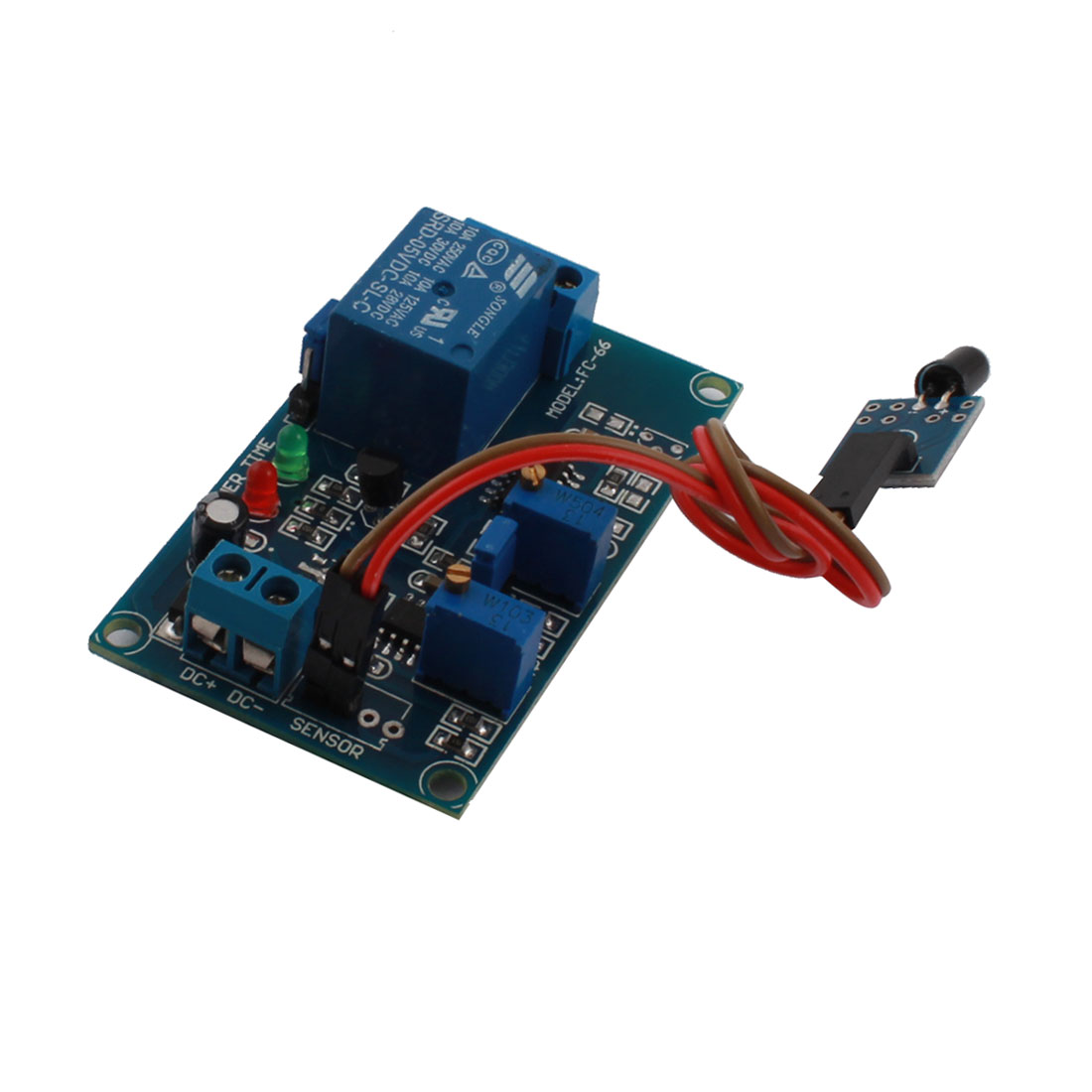 DC5V 1 Channel Flame Sensor Infrared Trigger Reciever Time Delay Relay PCB Board Module