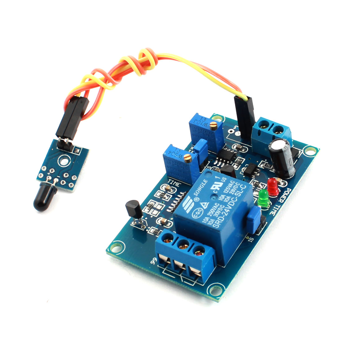 FC-66 DC24V 1 Channel Fire Fighting Detect Flame Sensor Infrared Reciever Delay Relay Module