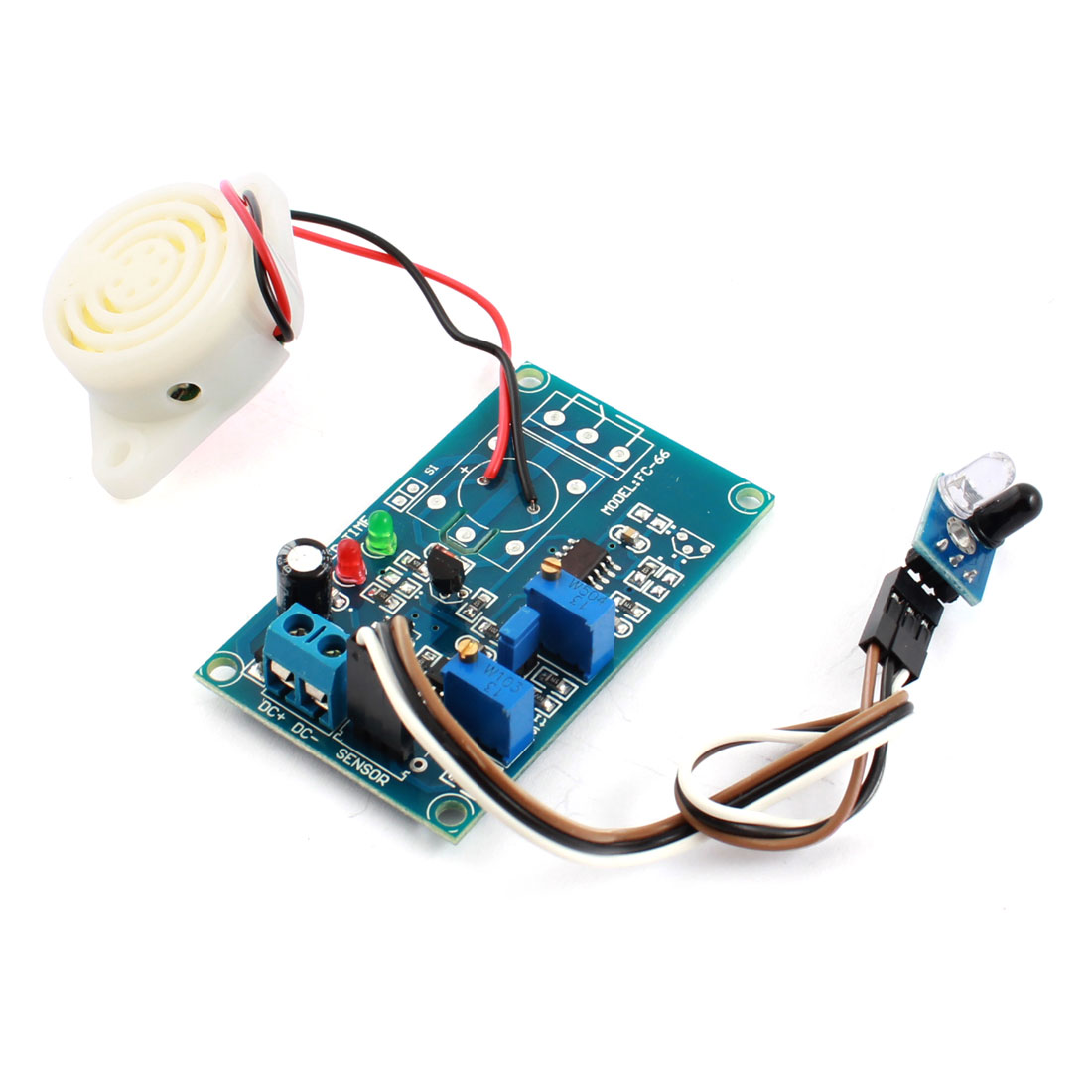 FC-66 DC24V 0-20S 0-60cm Infrared Reflection Infrared Sensor Time Delay Module w Alarm Buzzer