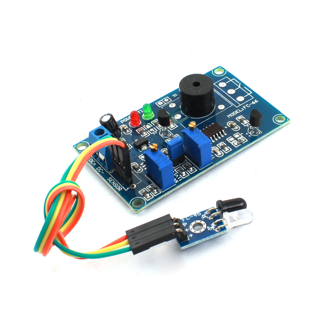 FC-66 0-20S 0-60cm Infrared Reflection Infrared Sensor Time Delay Module w Alarm Buzzer