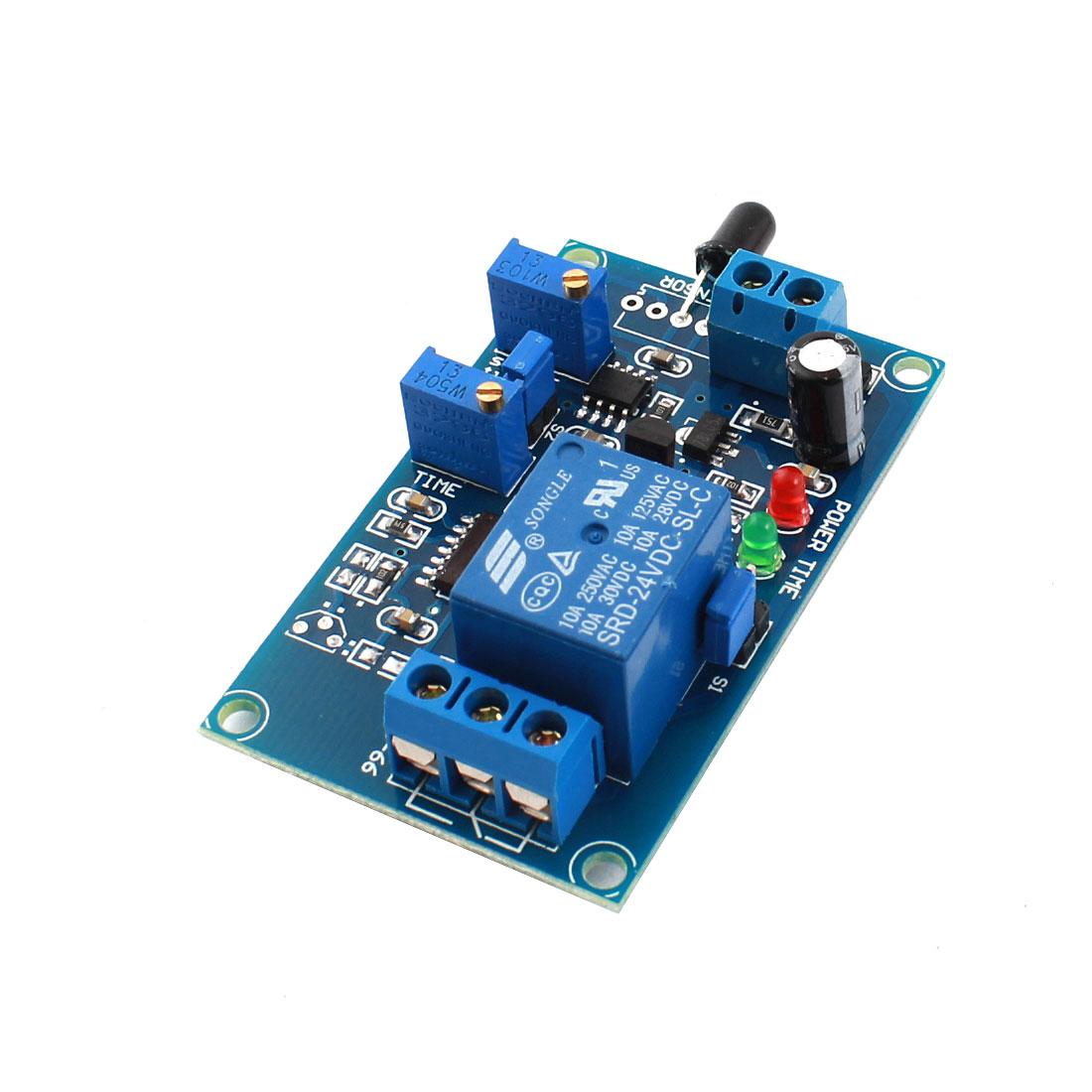 FC-66 DC 24V 0-20s 1-Channel Flame Detection Infrared Reflection Receive Trigger Delay Relay Module
