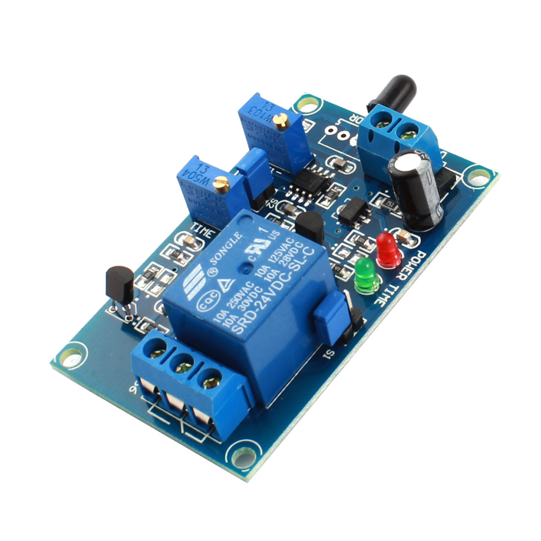 DC24V 1 Channel Flame Sensor Infrared Reciever Time Delay Non-infrared Trigger Relay PCB Board Module