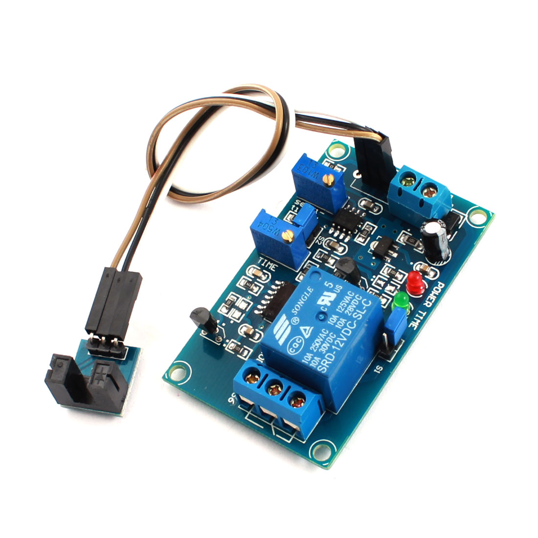 DC12V 1 Channel Groove Light Detetion Optical Coupler Trigger Time Delay Relay PCB Circuit Module