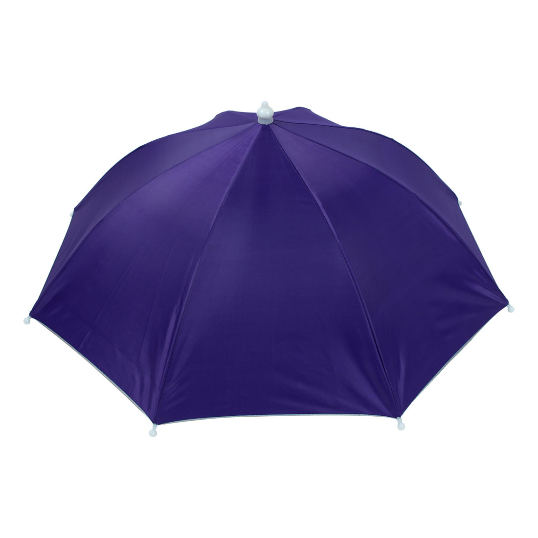 Fishermen Stretchy Headband Handsfree Folding Fishing Umbrella Hat Dark Purple