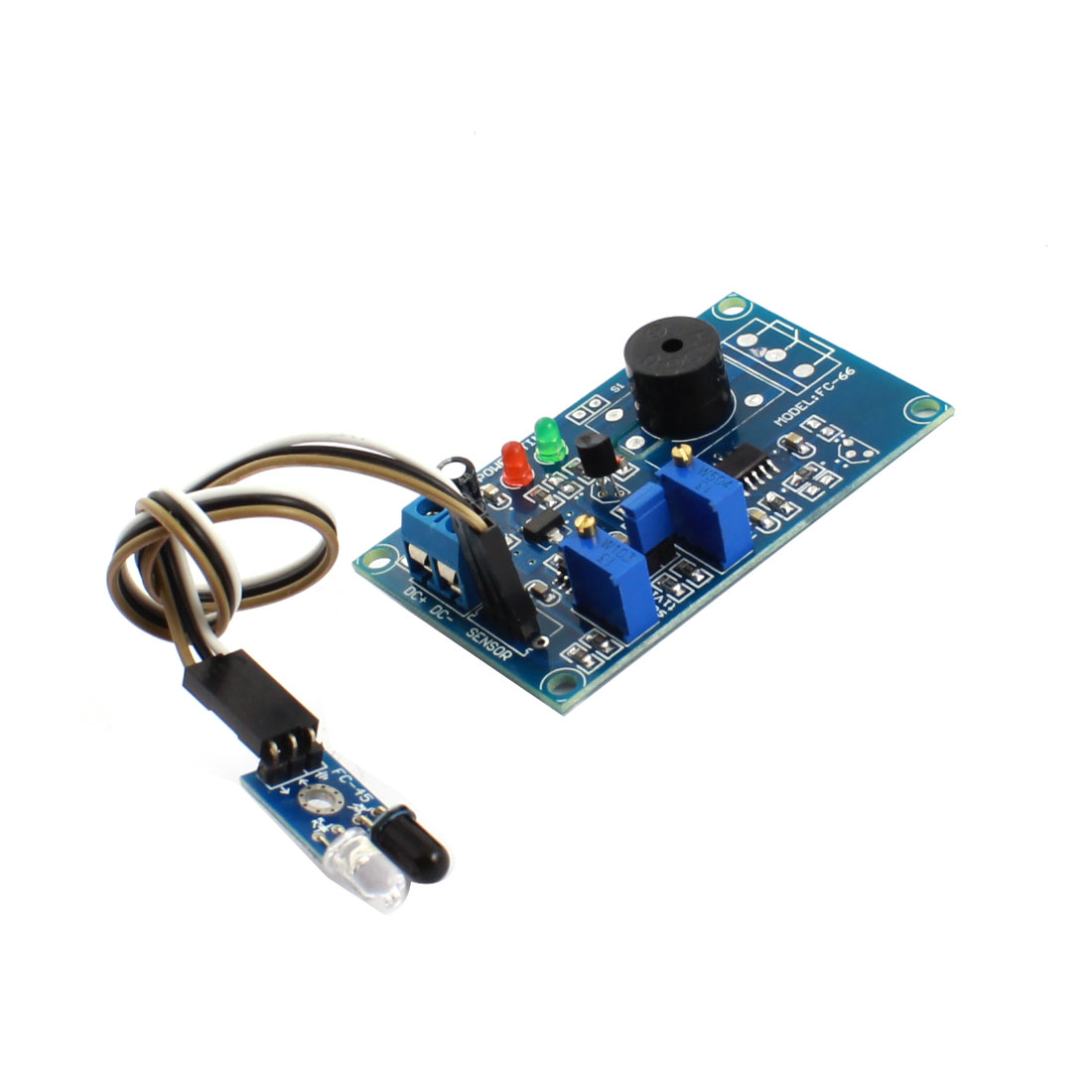 DC12V 0-20S 0-60cm Obstacle Avoidance Infrared Sensor Buzzer Alarm Time Delay PCB Circuit Module