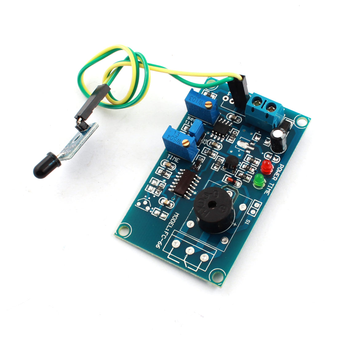 FC-66 DC5V Fire Fighting Light Detection Flame Sensor Infrared Receiver Alarm Buzzer Time Delay Module