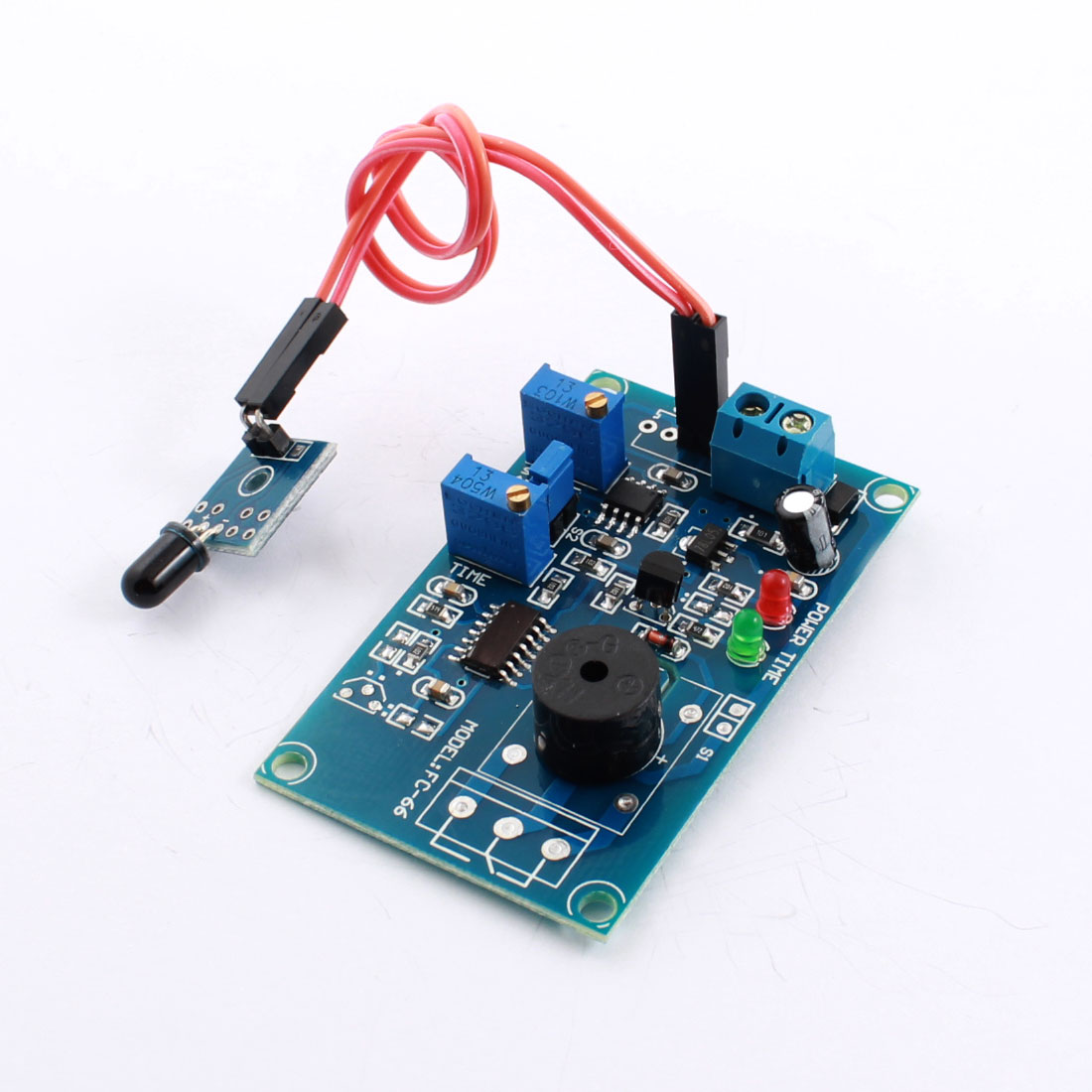 FC-66 DC12V Fire Fighting Light Detection Flame Sensor Infrared Receiver Alarm Buzzer Time Delay Module