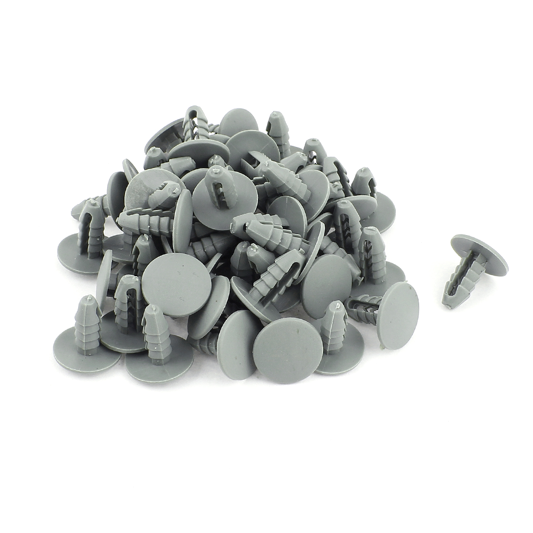 Plastic Automobile Car Parts Expanding Screw Rivets Gray 50 Pcs