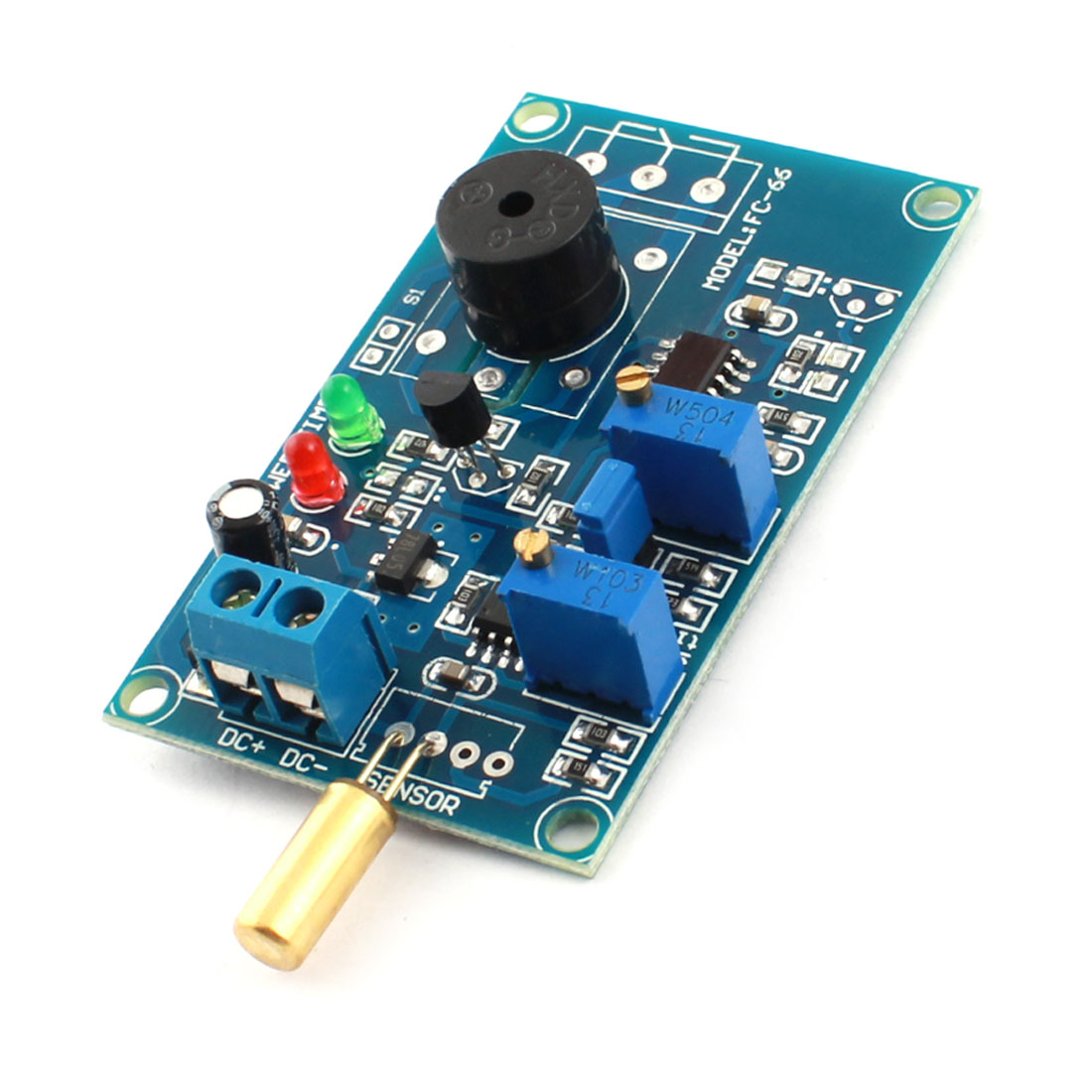 0-20s Angular Transducer Dumping Angle Sensor Inclination Time Delay Alarm Buzzer Module DC12V