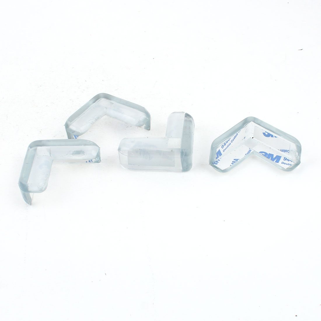 4 Pieces Clear Safety Soft Plastic Table Desk Corner Guard Cover Protector