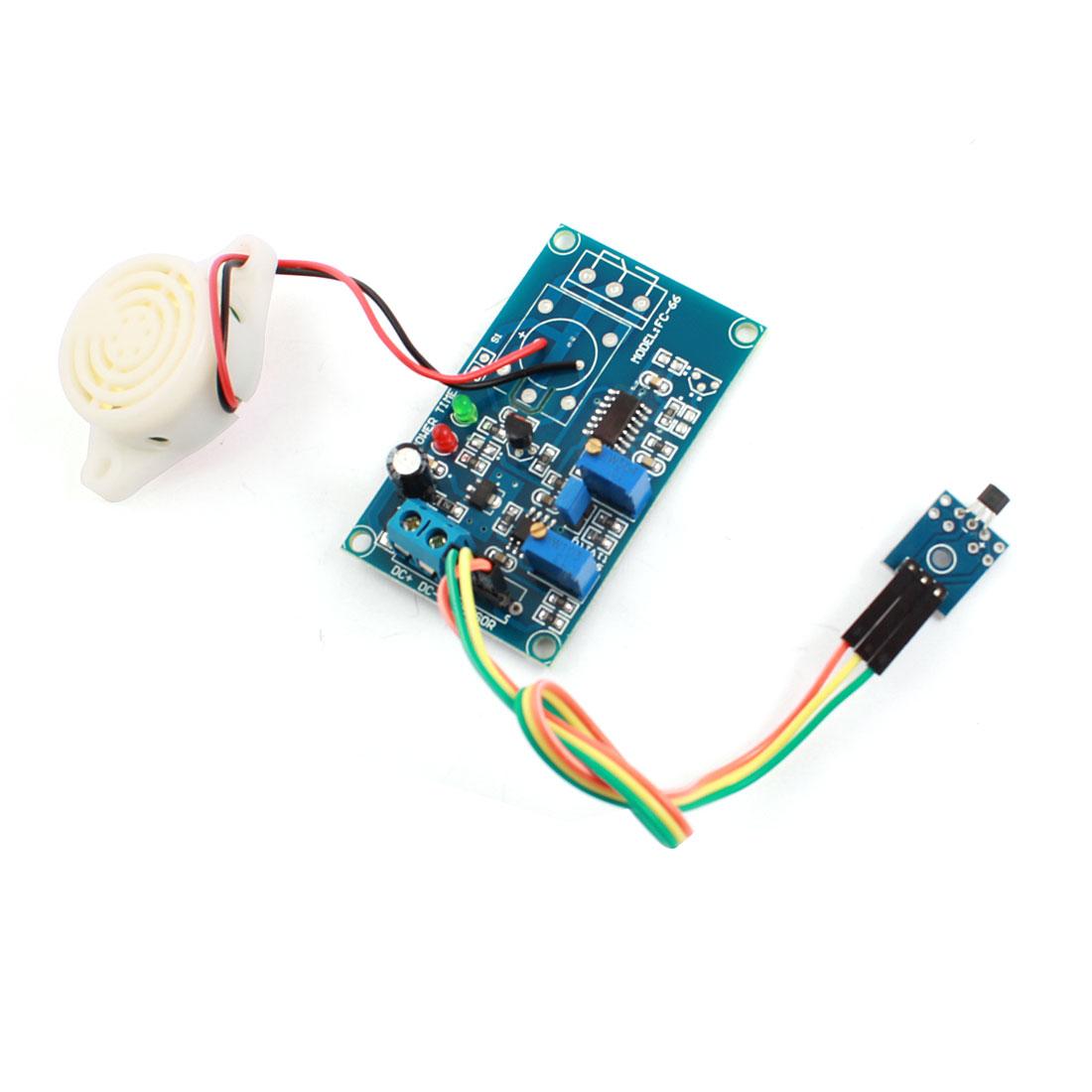 DC24V 0-20S Hall Effect Sensor Magnetic Detector Delay Buzzer PCB Board Circuit Module