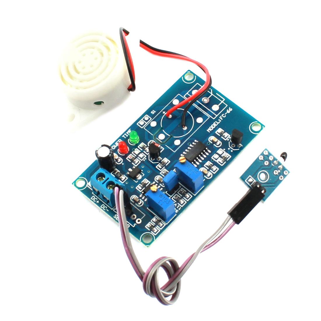 FC-66 DC 24V 20S Temperature Control Switch Thermal Detection Delay Buzzer Alarm Module Green