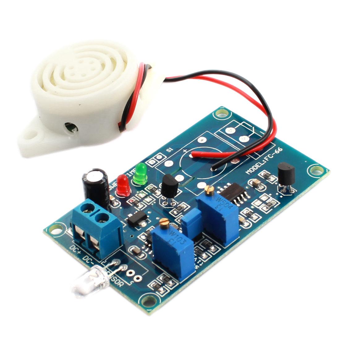 FC-66 DC 24V No Light Trigger Photodiode Sensor Buzzer Alarm Time Delay Module Green
