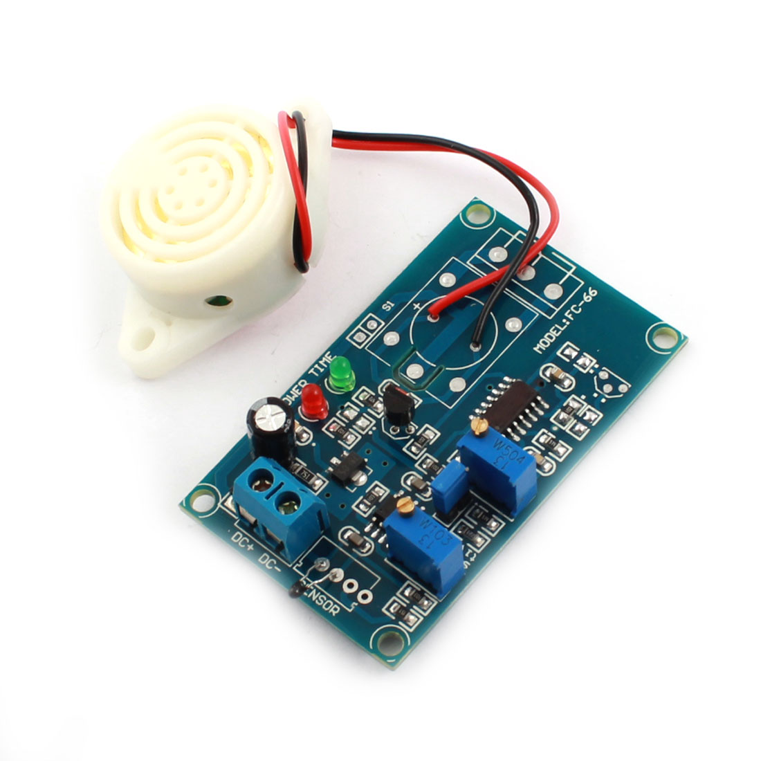 DC 24V 0-20s 0-200s High Temperature Trigger Thermal Detection Sensor Time Delay Module w Piezo Buzzer