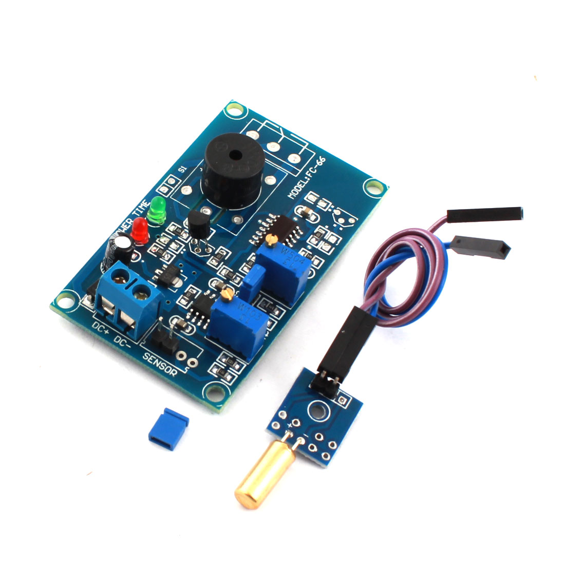 DC 12V 0-20S 1CH Dumping Angle Sensor Inclination Accelerometer Delay Alarm Buzzer PCB Circuit Module