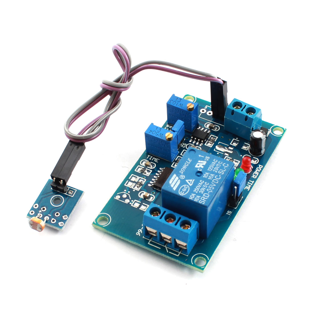 DC5V 0-20S Light Trigged Photoresistor Dectecion Sensor Optical Time Delay Relay PCB Circuit Module