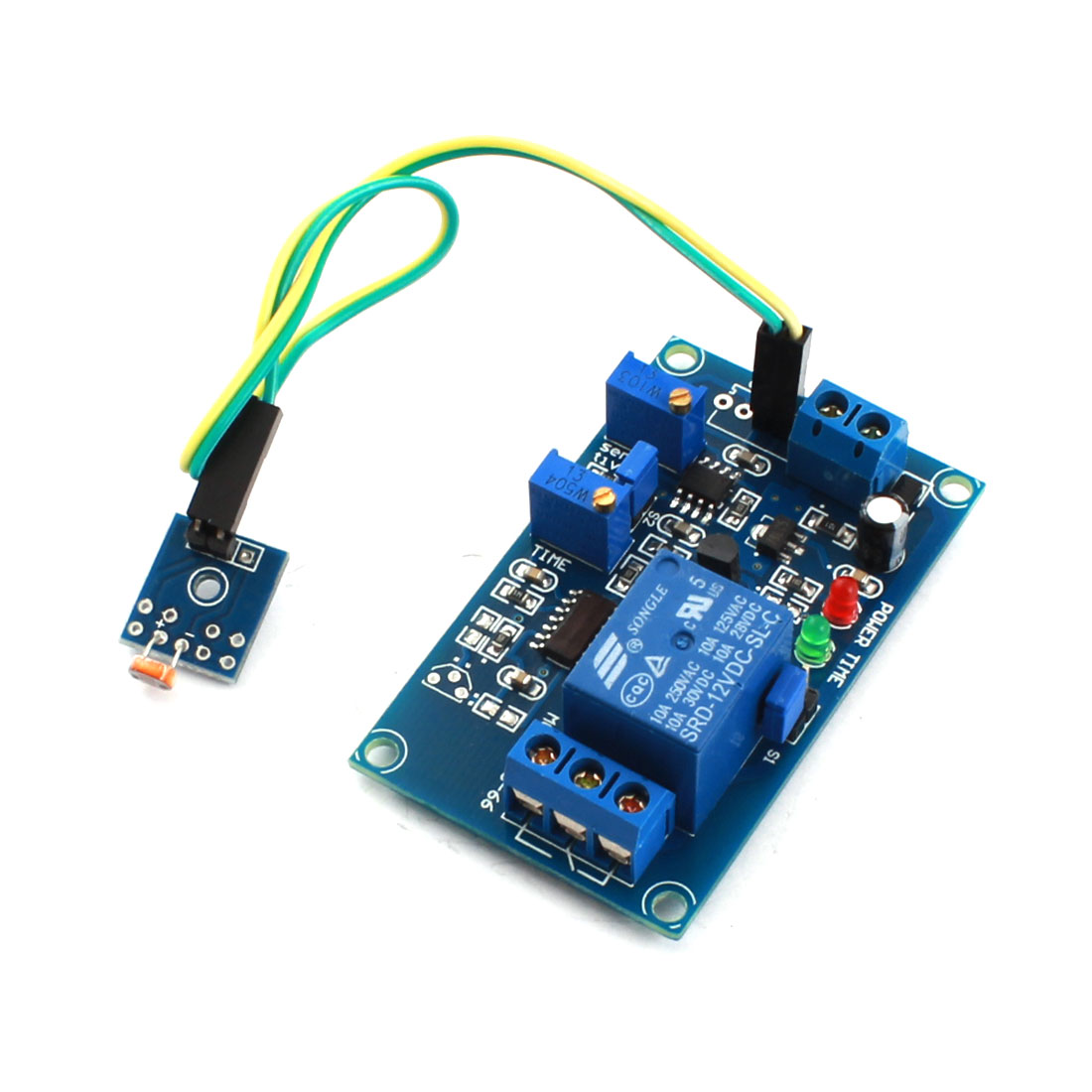 DC12V 1 Channel Light Operation Photovaristor Diode Time Delay PCB Board Relay Module