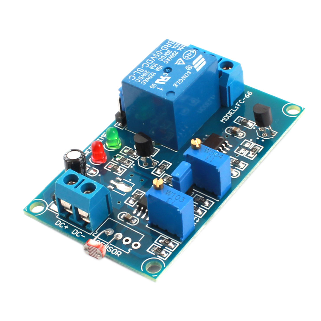 FC-66 DC5V 1CH Light Detection Photoresistor Sensor Time Delay PCB Circuit Relay Module Blue