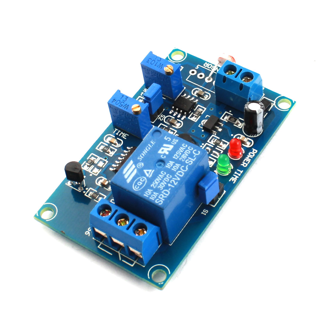 FC-66 DC12V 1CH PCB Circuit Photoswitch Photoresistor LDR Photoresistor Sensor Delay PCB Circuit Relay Module Green