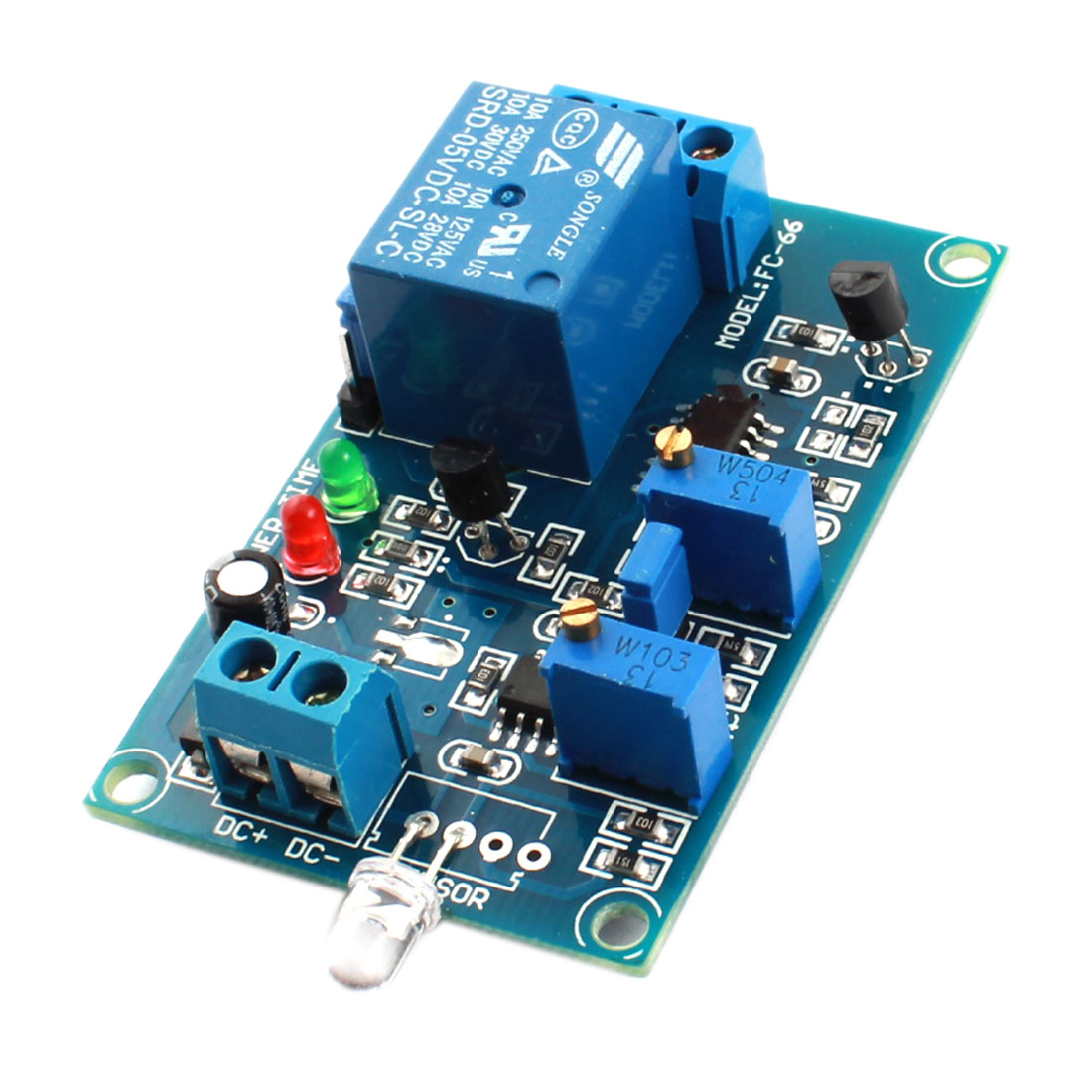 FC-66 DC 5V 1CH Light Detection Photosensitive Diode Sensor Photoswitch Delay Relay Module Green