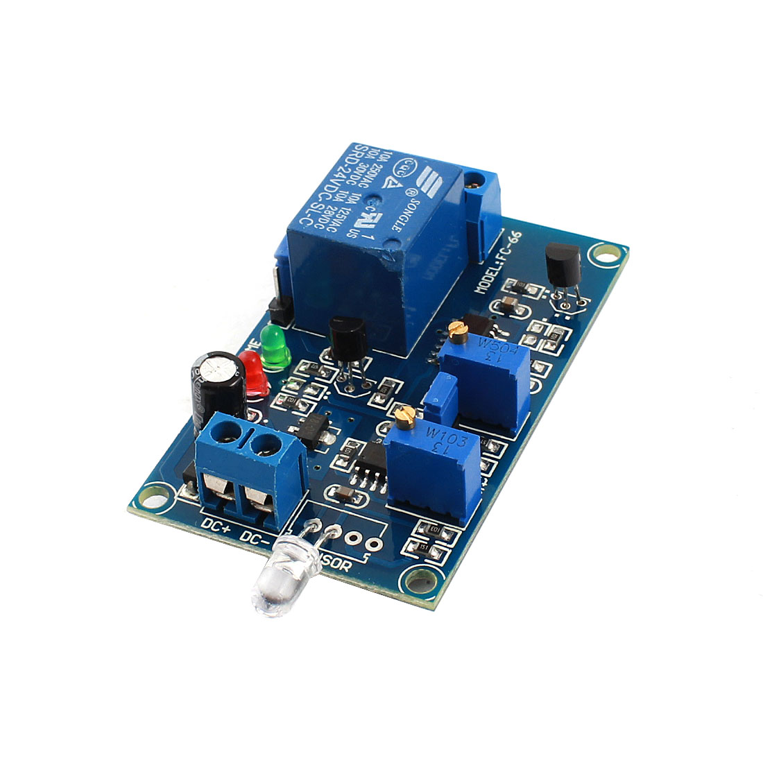FC-66 DC24V 1 Channel Non Light Trigger Photosensitive Diode Delay Relay PCB Module