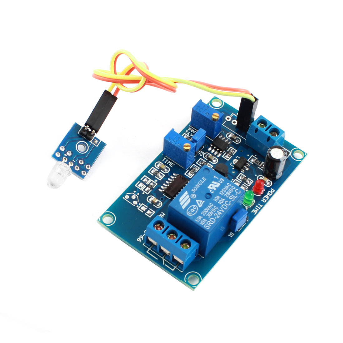 DC24V 1CH Light Detection Photosensitive Diode Sensor Photoswitch Time Delay Relay PCB Circuit Module