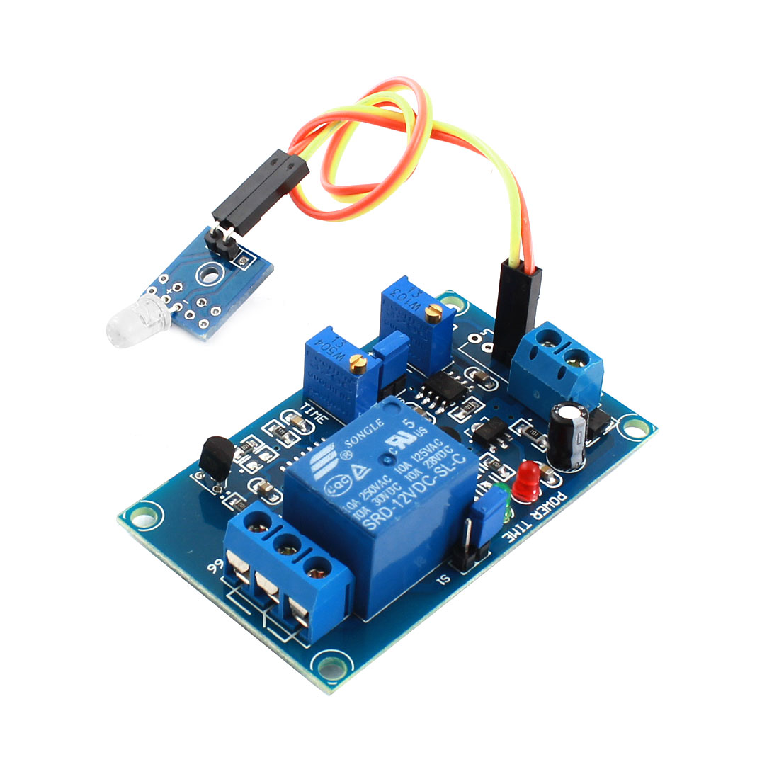 DC 12V Non-light Operation 1 Channels Photosensitive Diode Sensor Time Delay Relay Module