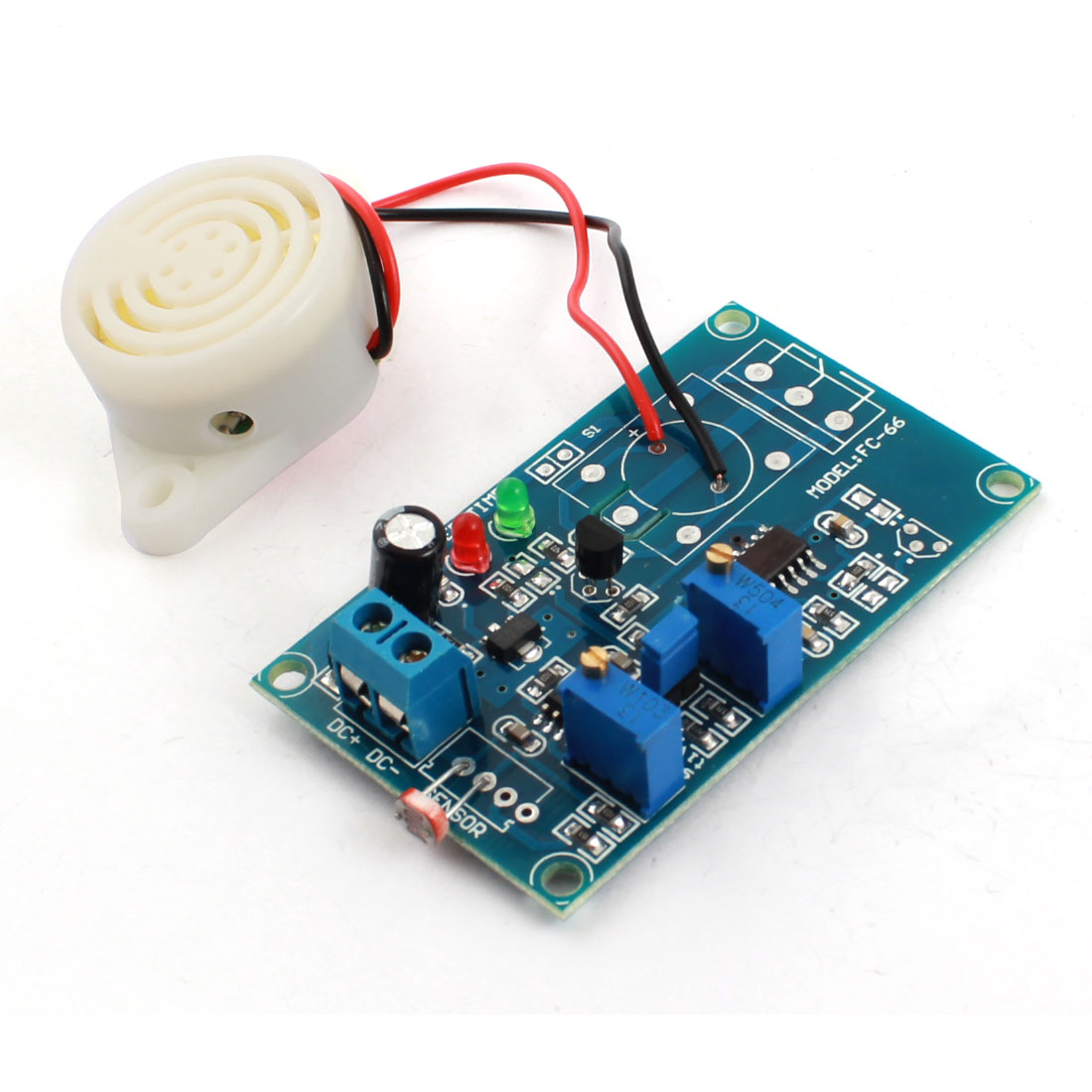 DC24V 0-20S Adjustable Time Light Trigged Photoresistance Sensor Delay Alarm Buzzer PCB Module