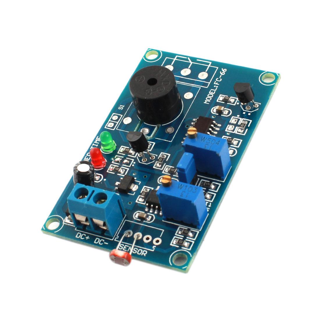 FC-66 DC12V 20S NO Light Trigged Photoresistor Sensor Time Delay Alarm PCB Module