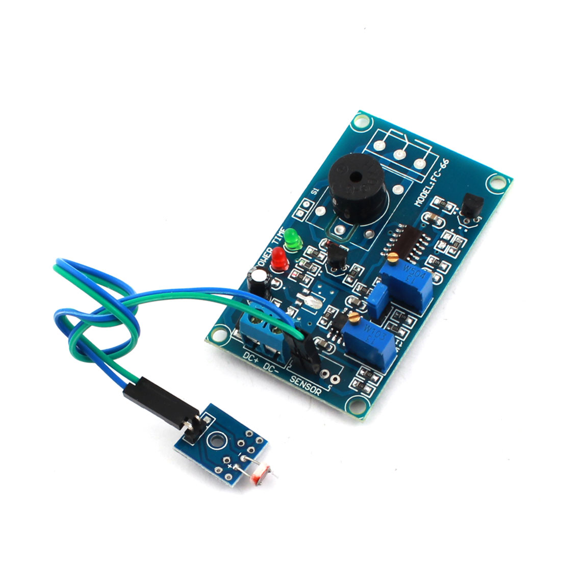 FC-66 DC 5V 0-20S NO Light Trigged Photoresistor Sensor Delay Alarm Buzzer PCB Circuit Module