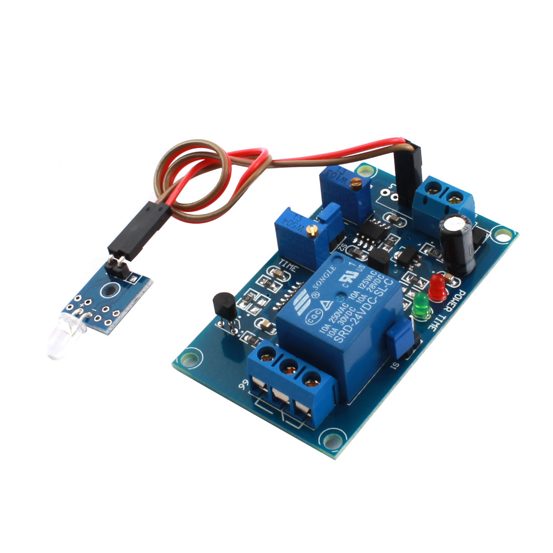 DC 24V Non-light Operation 1 Channels Photosensitive Diode Sensor Time Delay Relay Module