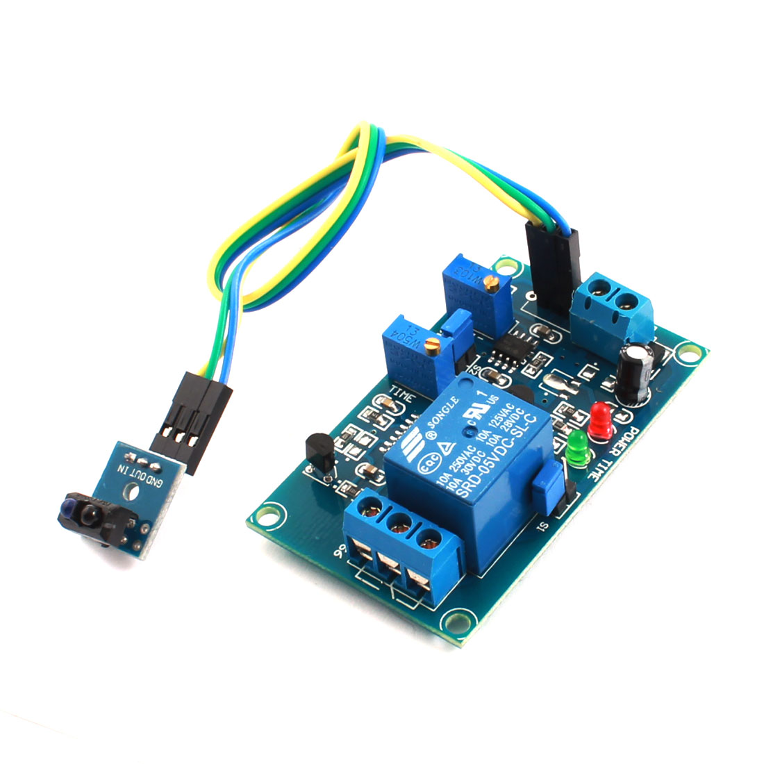 DC 5V 0-20s 1 Channel TCRT5000 NO Infrared Reflection Detection Sensor Delay Relay PCB Circuit Module Green