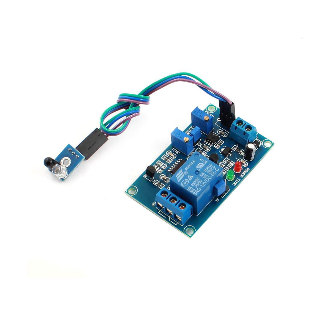 DC12V 0-20S 1 Channel No No Infrared Reflection Trigger Sensor Time Delay Relay PCB Circuit Module Green