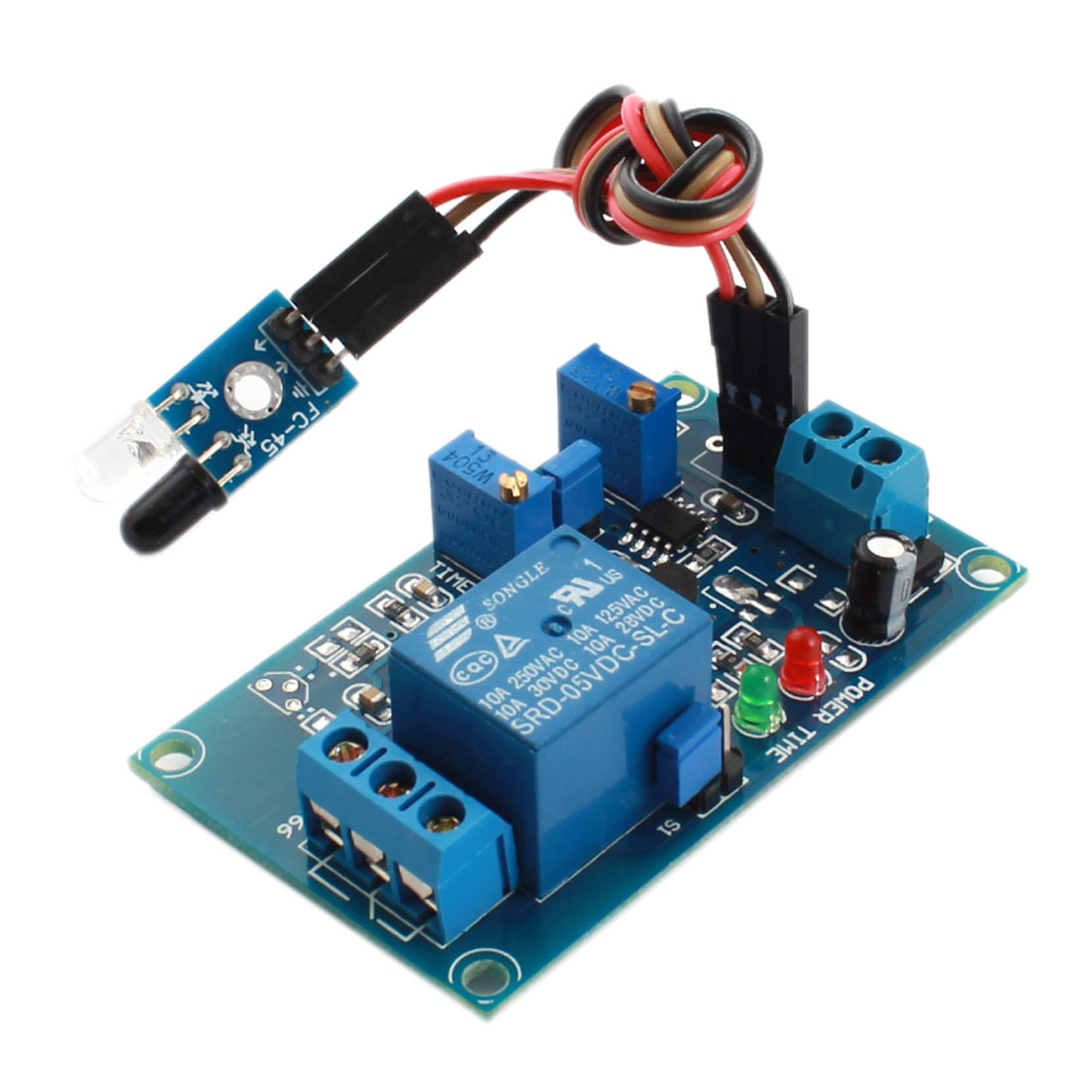 FC-66 DC5V 0-20S 1 Channel Infrared Sensor Reflection Trigger Time Delay Relay Module