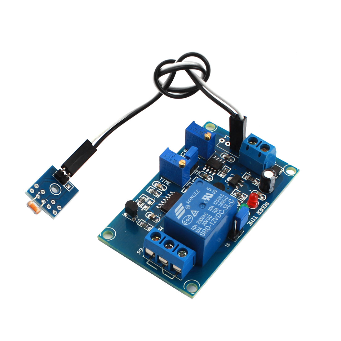 DC12V 1 Channel Non-light Operation Photovaristor Diode Time Delay PCB Board Relay Module