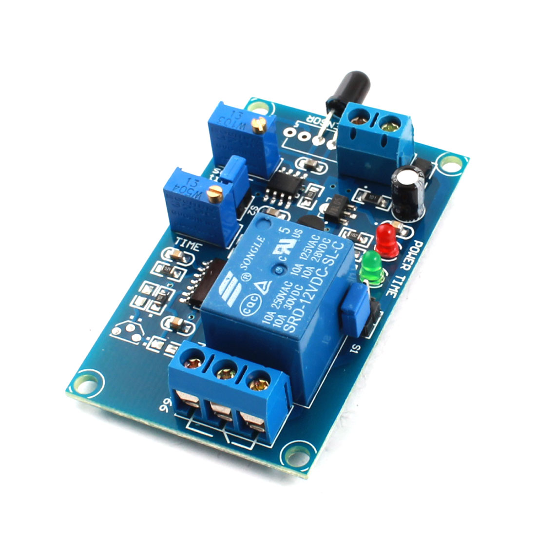 DC12V 2-LED Lamp 1CH Flame Sensor Infrared Trigger Reciever Time Delay Relay PCB Board Module