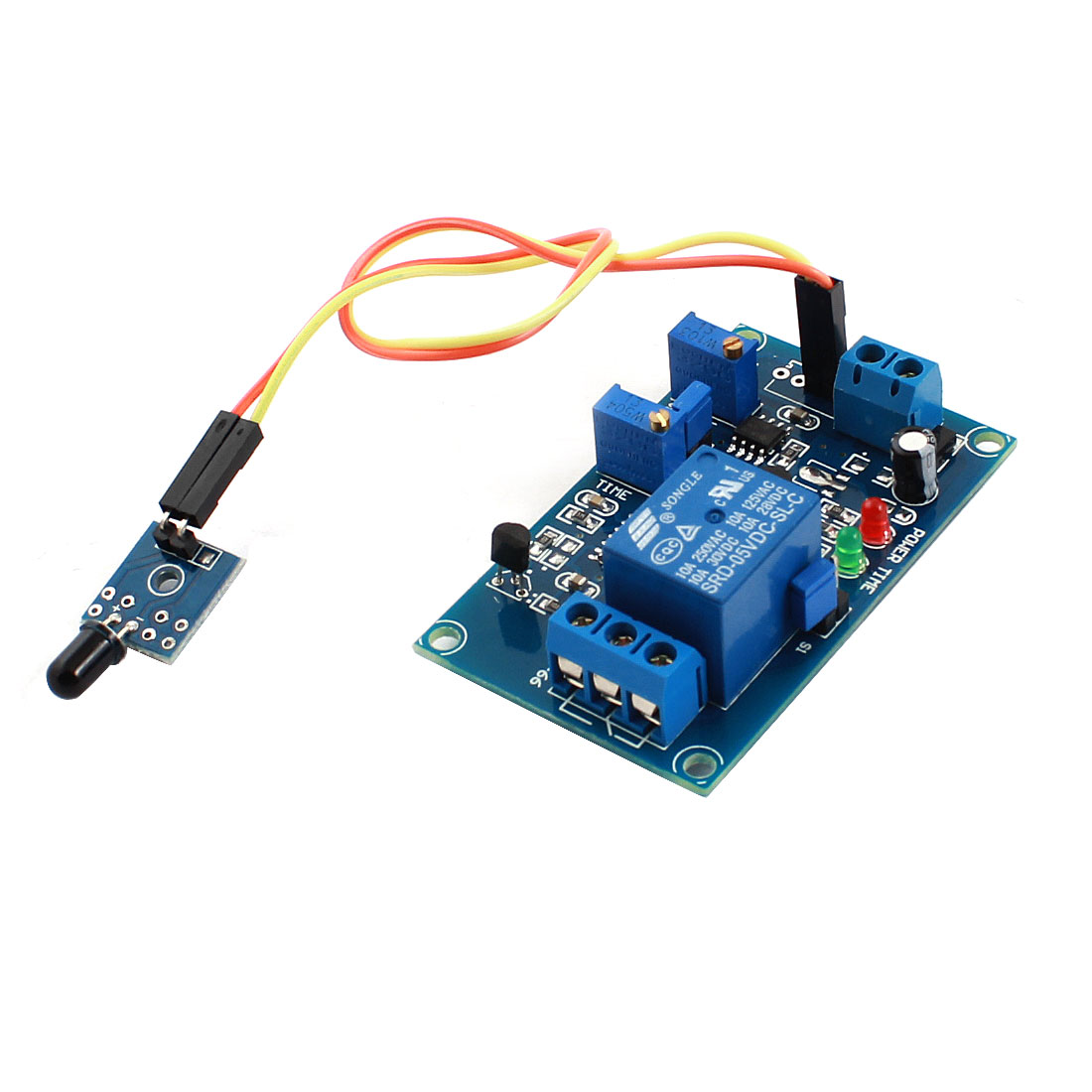 DC5V 1 Channel Flame Sensor Infrared Reciever Time Delay Non-infrared Trigger Relay PCB Board Module