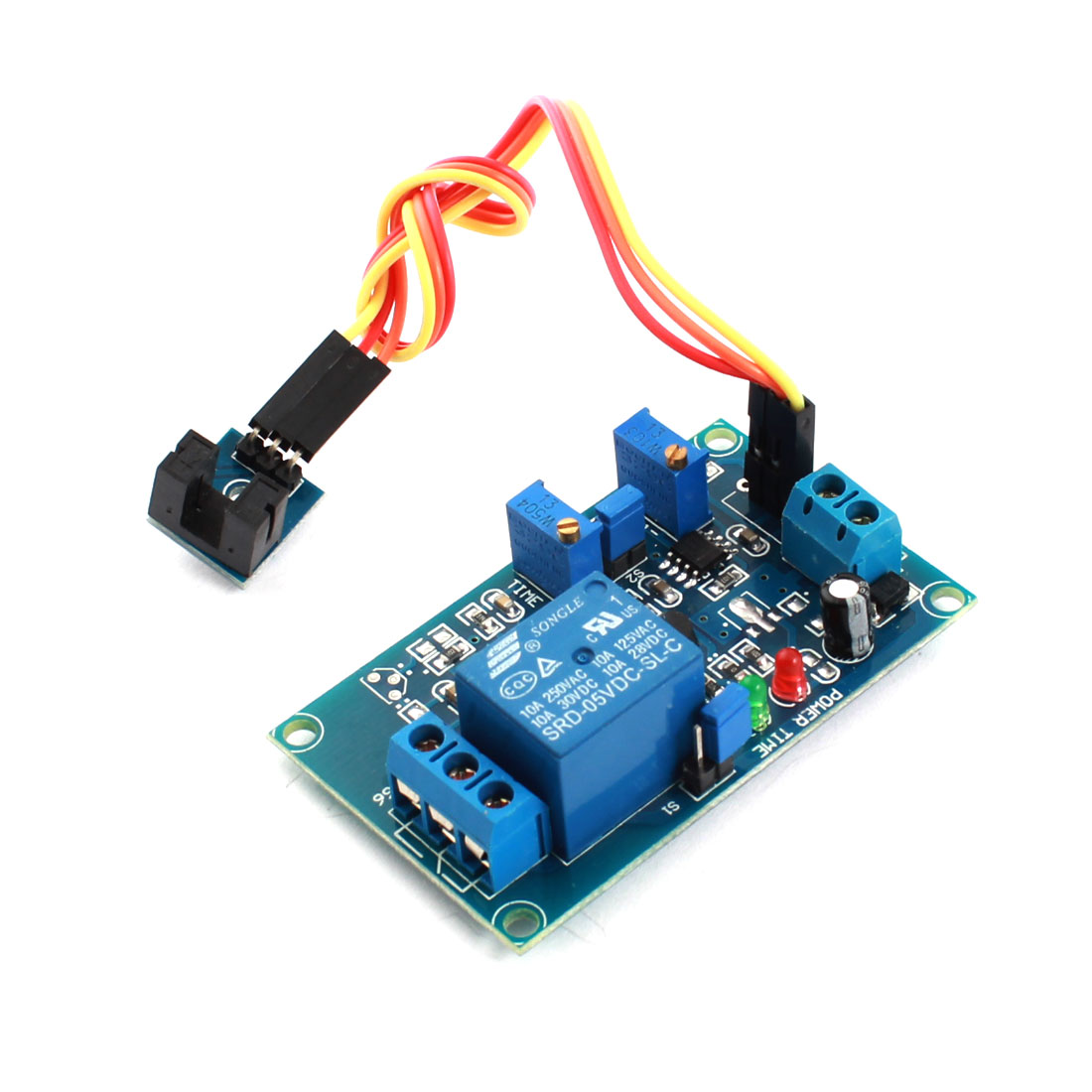 DC5V 1CH Slotted Optical Coupler Covered Trigger Time Delay Relay Module Blue