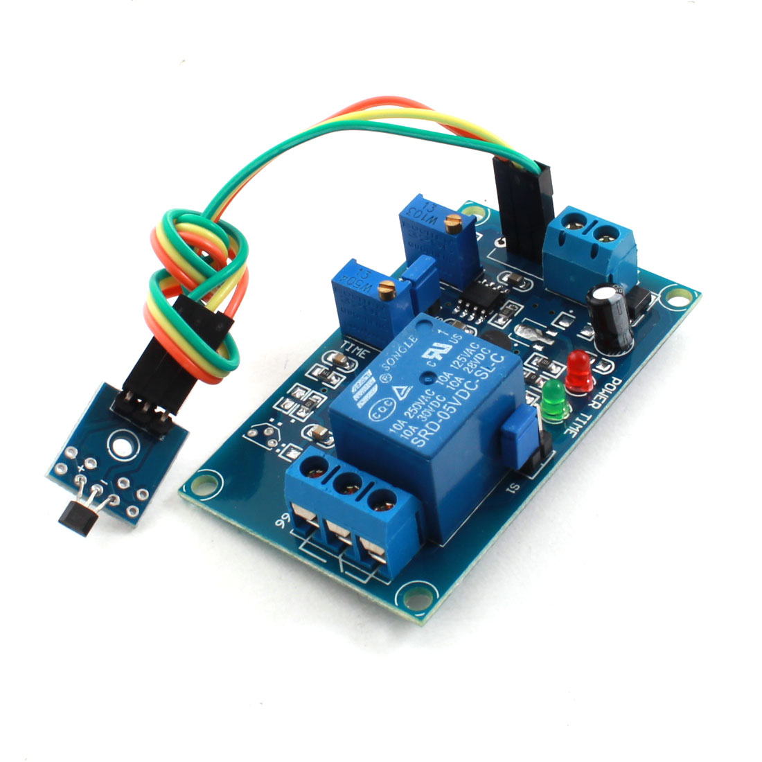 DC 5V 0-20s 1 Channel Hall Effect Sensor Trigger Megnetic Induction Delay Relay PCB Circuit Module