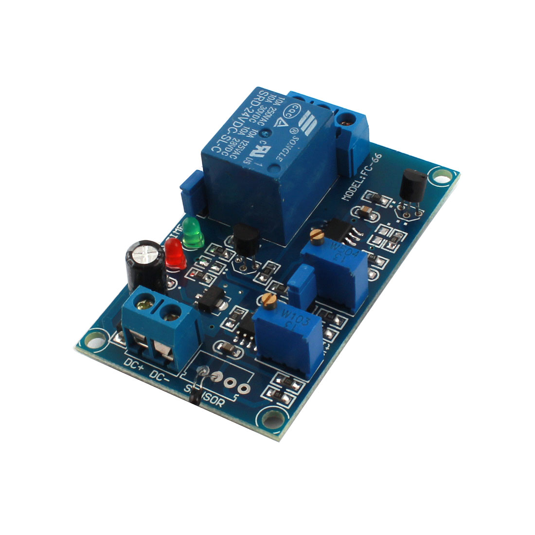DC24V 0-20s 1 Channel Low Temperature Trigger Thermosensitive Time Delay PCB Board Relay Module Blue