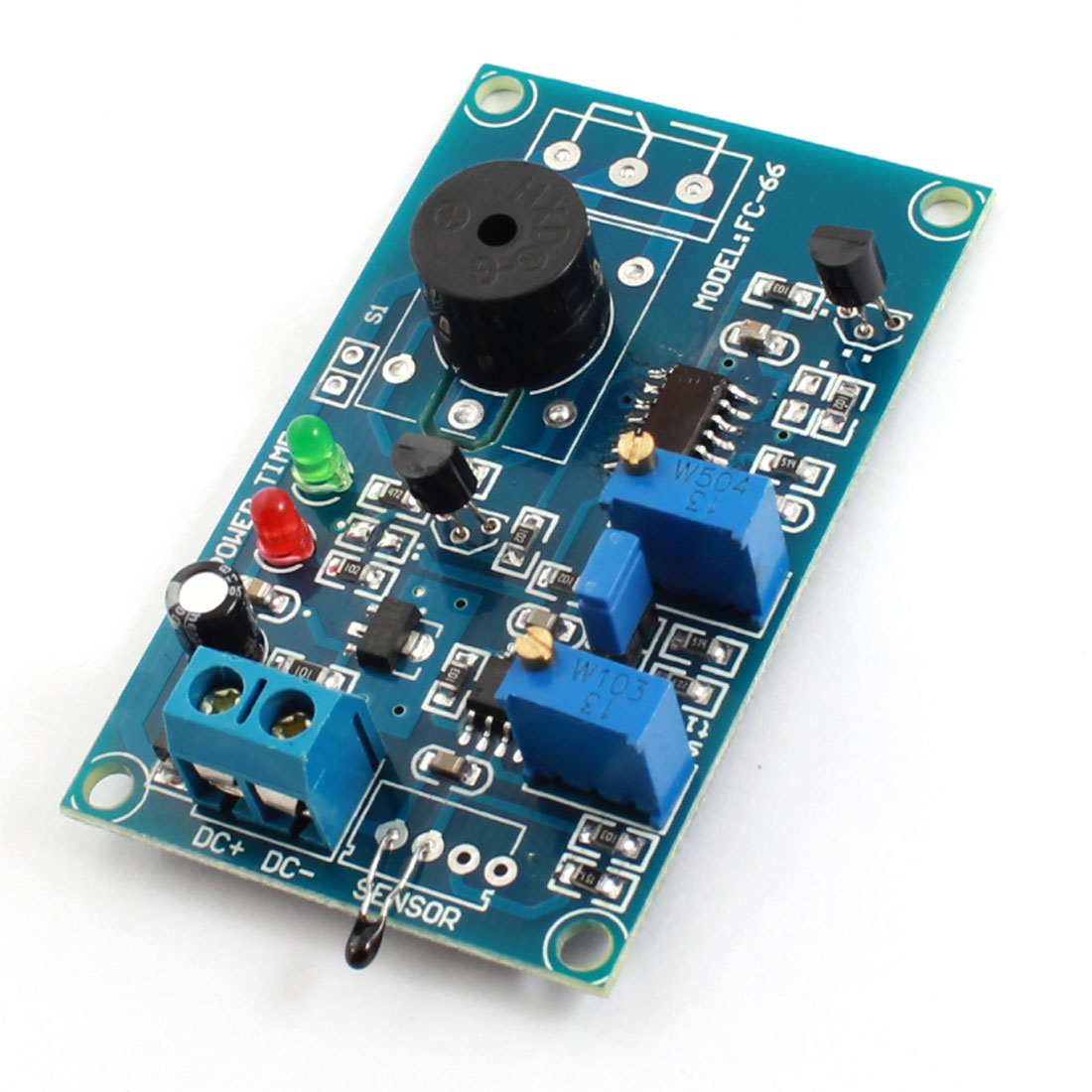 DC 12V 0-20S Low Temperature Trigger Pyroelectricity Alarm Buzzer Time Delay PCB Circuit Module Green