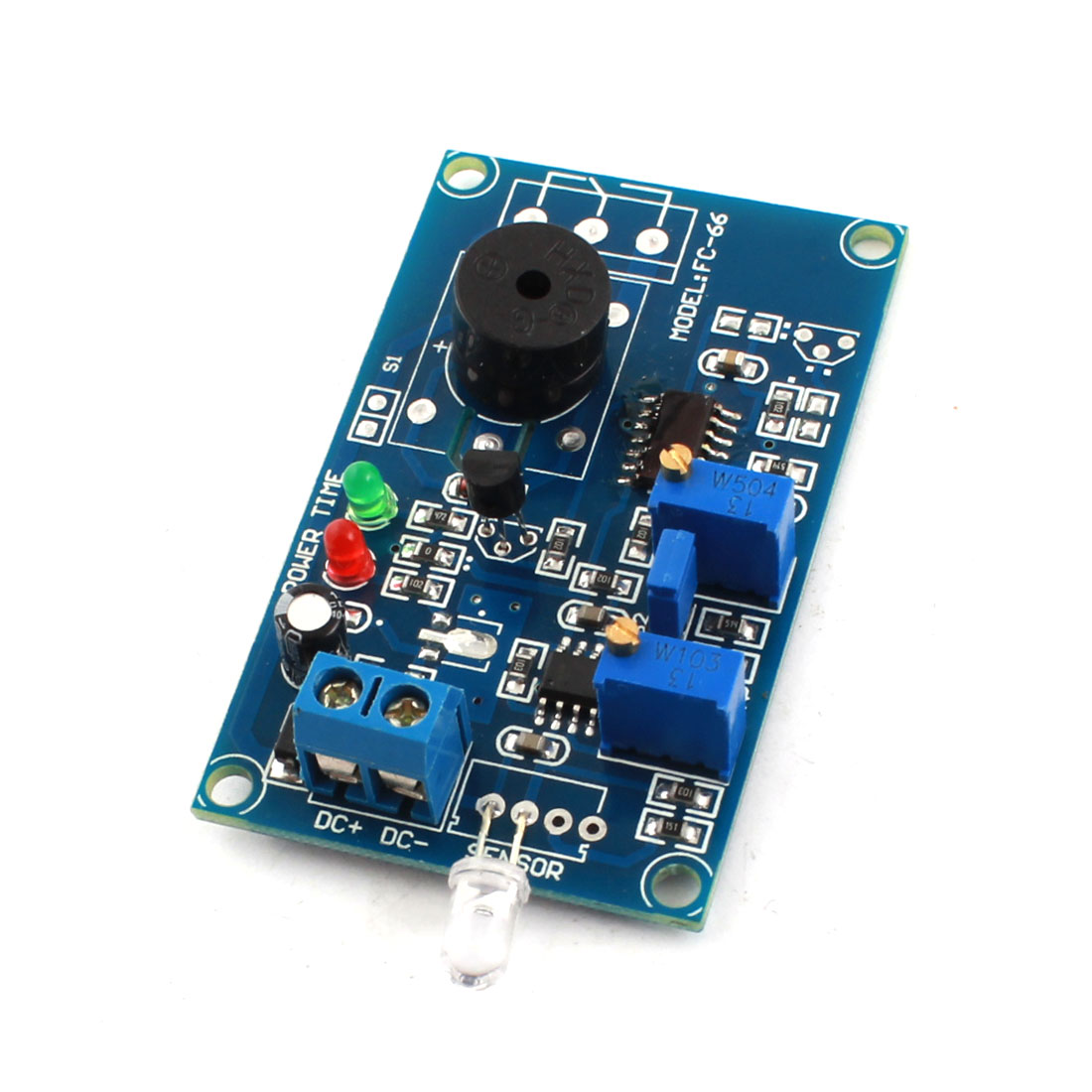 FC-66 DC 5V 0-20S Photosensitive Diode Photoelectric Sensor Alarm Time Buzzer Delay Module Green