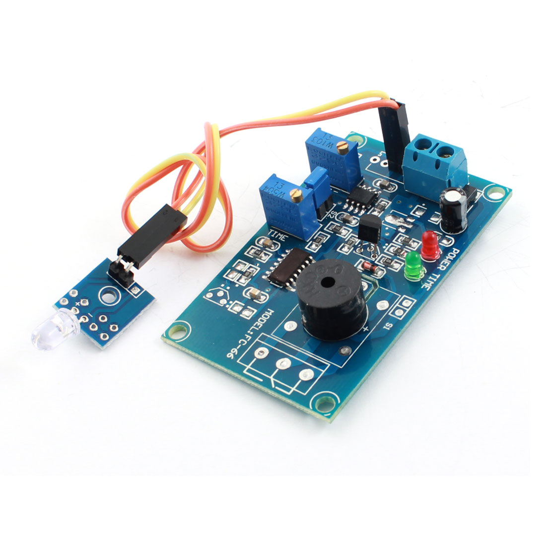 FC-66 DC5V Light Detection Photosensitive Diode Sensor Delay Alarm PCB Circuit Module w Piezo Buzzer