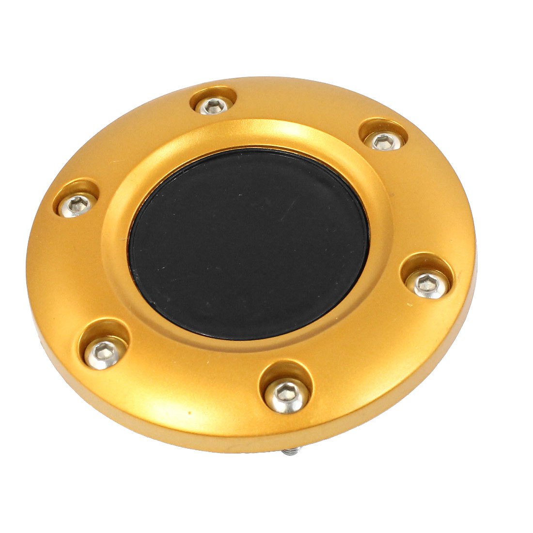 "Gold Tone 3.3"" Dia Car Plastic Steering Wheels Horn Button"