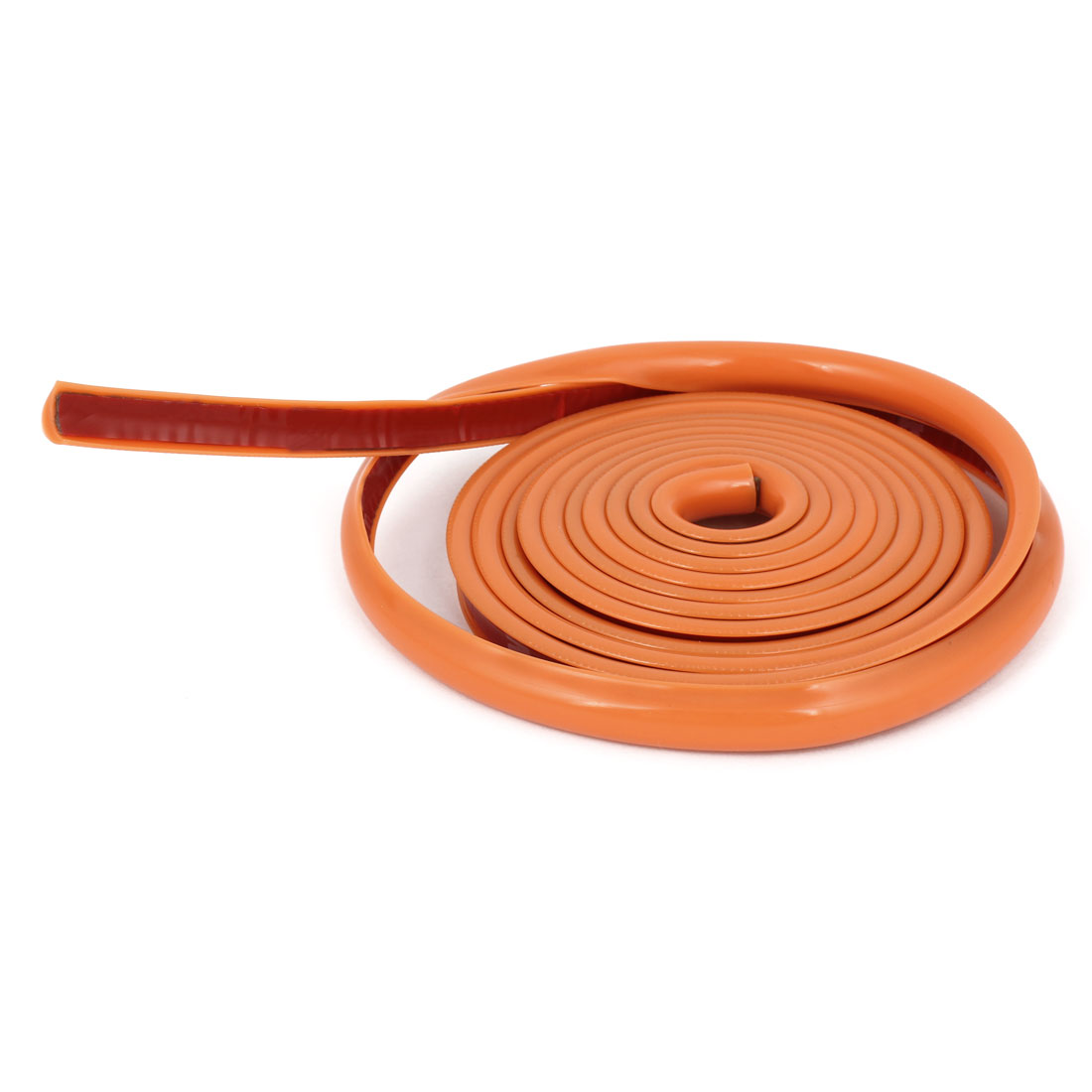 Orange Plastic Slim Car Decorative Moulding Trim Strip 2M 6.6Ft Length