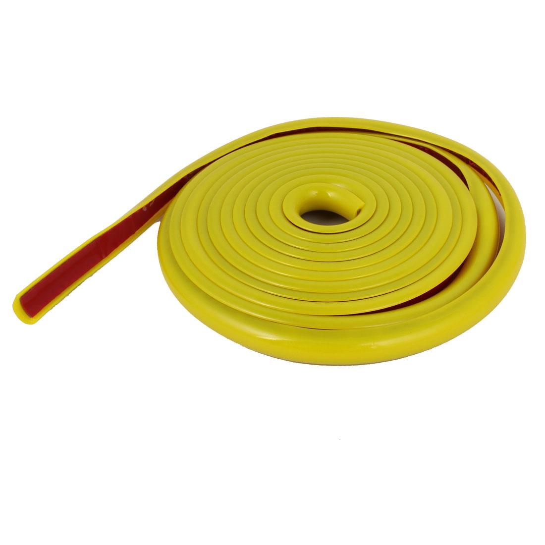 Yellow Slim Auto Car Decorative Moulding Trim Strip 2M 6.6Ft