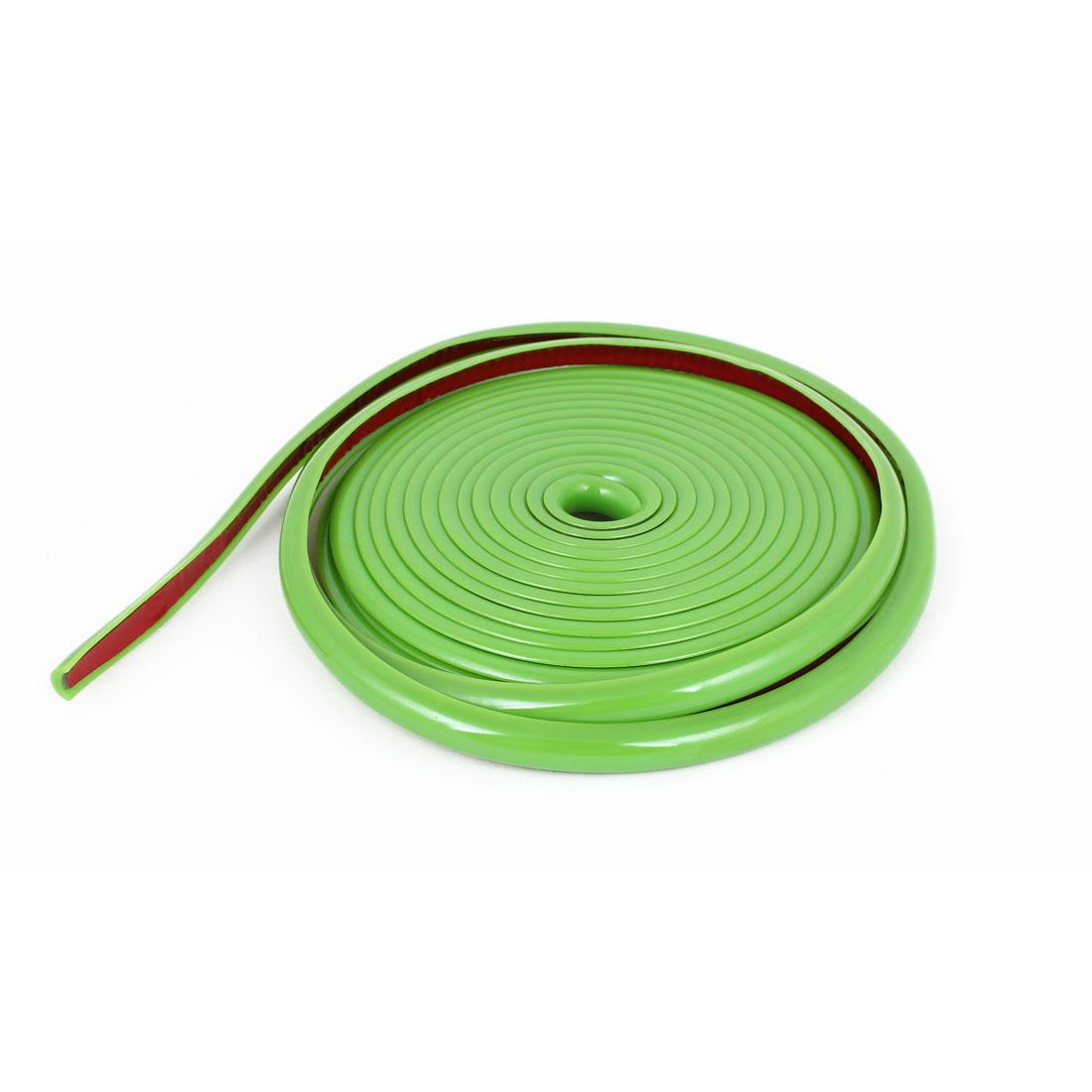Green Adhesive Ornament Car Moulding Trim Strip 4 Meter